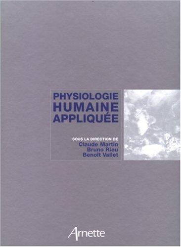 Physiologie Humaine Appliquée