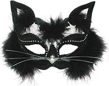 (Bristol Novelty EM433 Katzenaugenmaske auf Stirnband, transparent, Einheitsgröße, Schwarz)