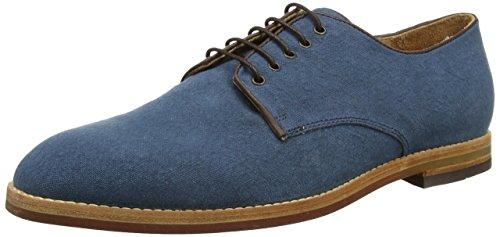 Hudson Hadstone Linen, Derby à lacets homme Bleu - Bleu (Bleu marine)