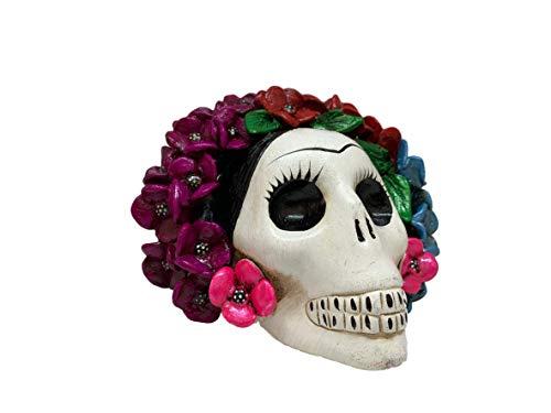 Frida Kahlo Mexikanischer Totenkopf - Zuckerschädel - handbemalt in Mexiko - Cabeza De Frida