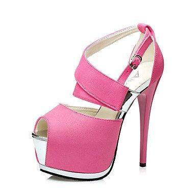 Talloni delle donne Primavera Estate Autunno Inverno Altro Fleece Wedding ufficio & carriera Party & Sera casuale tacco a spillo Pink