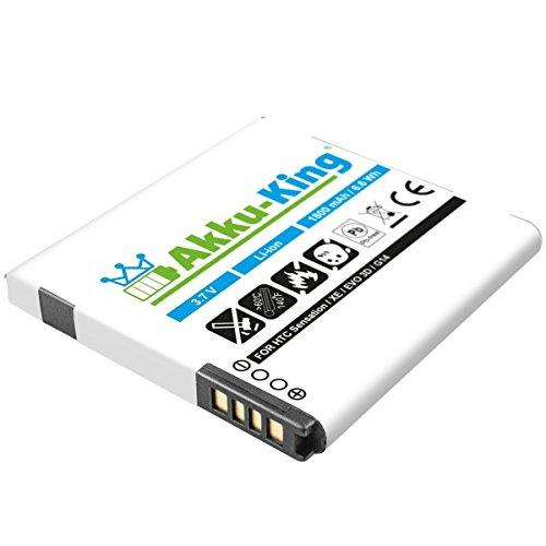 Akku-King Akku kompatibel zu HTC Sensation / XE / EVO 3D / Radar / C110e - ersetzt BA-S560 / S580 / S590 Li-Ion 1800mAh