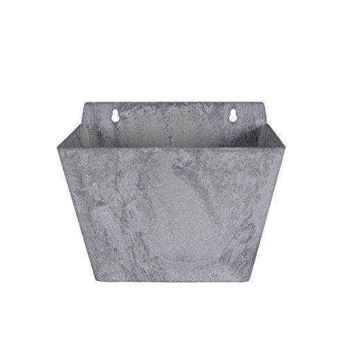 Joli hängekasten artstone pot de fleurs en marbre artificiel mur de pierre gris 17 cm