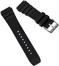Correa de reloj Bonetto Cinturini 285 de ZULUDIVER® sumergible de goma italiana negra. 20 y 22mm