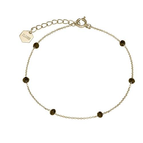 Cluse Damen-Kettenarmband Messing Kristall CLJ11013