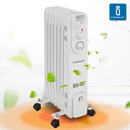Aigostar Hotwin Slim 33IDA, radiatore ad olio del 1500 W con 7 elementi