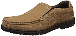 Lee Cooper Mens Camel Leather Loafers and Moccasins - 6 UK/India (40 EU)