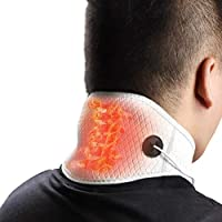 HIIMIEI Heating Pad for Neck Pain Relief- Electric Heated Neck Wrap for Far Infrared Physical Hot Therapy,3 Temperature Options Controlled by USB Cord,Improve Blood Circulation (Neck Pad)