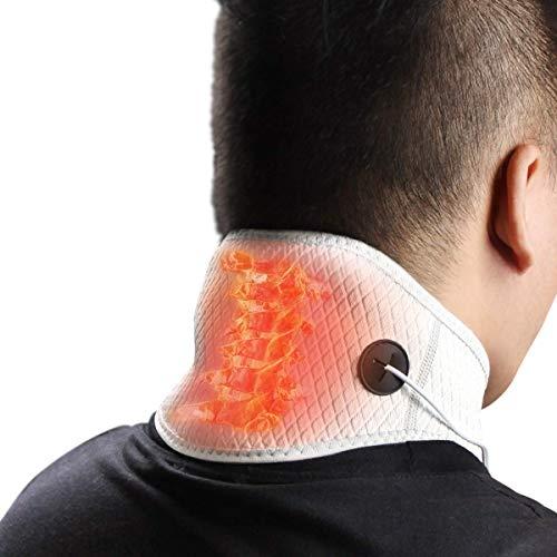 Almohadilla térmica HIIMIEI para el alivio del dolor de cuello: envoltura eléctrica del cuello con calefacción para terapia de calor física con infrarrojo lejano