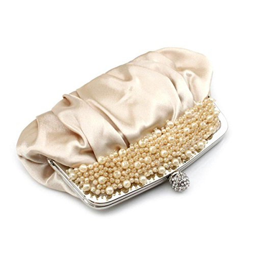be1f9a0fc9a1c ... NBAG Frauen Klassische Perlen Handtasche Abendkleid Bankett Tasche  Braut Brautjungfer Ehe Kleid Tasche Prinzessin Damen Tasche ...