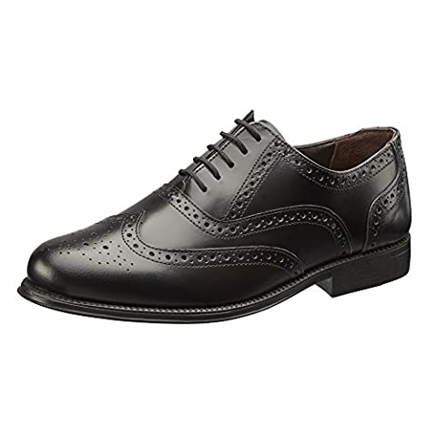 Clifford James Mens Real Genuine Leather Brogues. (9, Black)