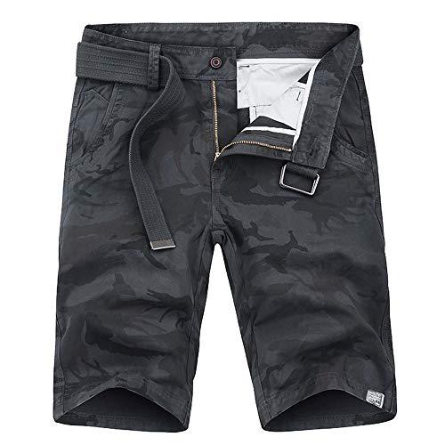 uflage Multi-Pocket Cargo Short Arbeitshose Gürtel Hose Kurze Lockere MTB Hosen Feldhose Outdoorhose ()