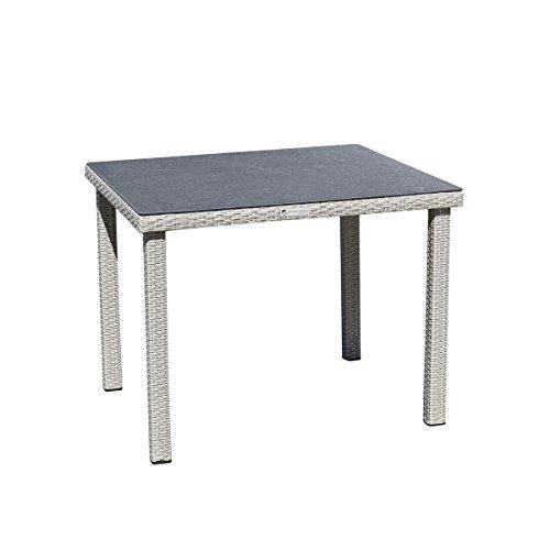 Table de jardin en résine tressée