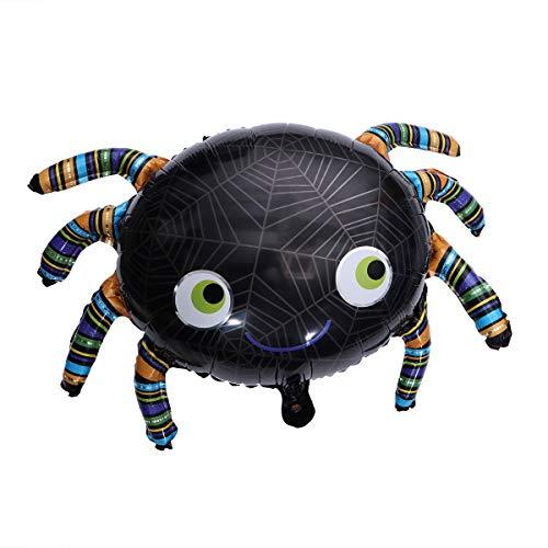 BESTOYARD Halloween Folie Ballons Spinne Helium Ballons Aluminium Mylar Ballons Halloween Party Dekoration