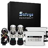 Safego H4 55W Retrofit Conversion Kit FARI XENO XENON HID KIT LUCI di Conversione HID accessori Super luminosa 6000K Bianco Auto Xenon HID Light - Lampada HID Xenon Luce Per Auto