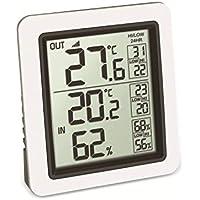 TFA Dostmann Info Funk-Thermometer inkl. Außensender Kat-Nr. 30.3065.02, Weiß