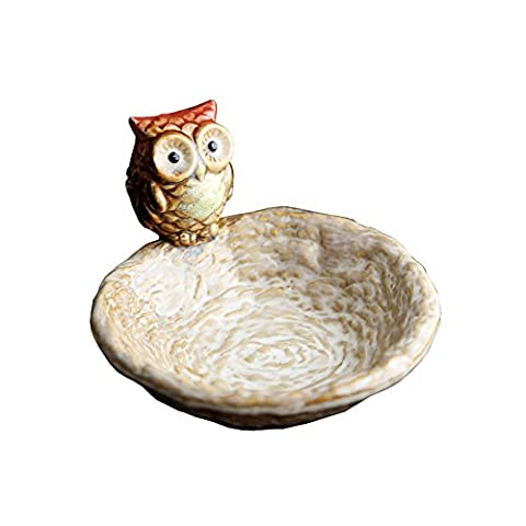 Novelty Dinnerware Bowls Decorative Plates European Retro Containers Ceramic Decoration Owl Indoor Arts Ware Photography Props Home Decoration Small Dish