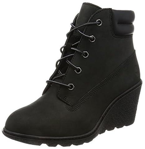 Timberland Women's Amston_Amston_Amston 6in Ankle Boots, Black-Schwarz (Black Nubuck), 6