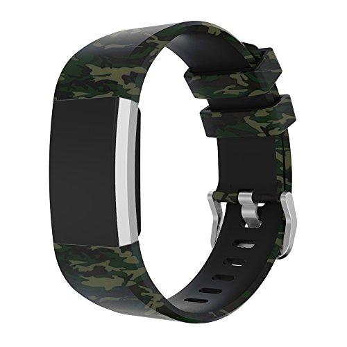 HappyTop Armband, 20mm, für Fitbit Charge 2, Camouflage-Ersatz, unisex, e