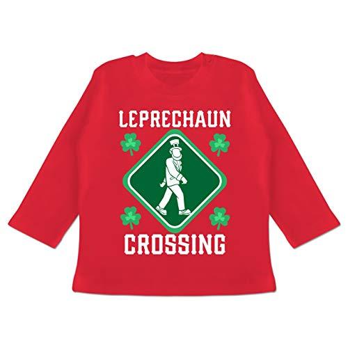 Danger Kostüm Girl - Anlässe Baby - Leprechaun Crossing - 3-6 Monate - Rot - BZ11 - Baby T-Shirt Langarm