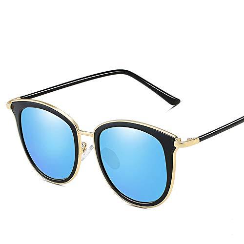 Easy Go Shopping Frauen UV400 Schutzglas Acetat Rahmen Fashion ClassicVintage polarisierte Sonnenbrille für Sonnenbrillen und Flacher Spiegel (Color : Blau, Size : Kostenlos)