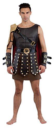 Kostüm Römischer Brustpanzer (,Karneval Klamotten' Gladiator Kostüm Römer römischer Soldat Krieger Kostüm Herren Männer Tunika, Umhang inkl. Arm-Manschetten Größe)