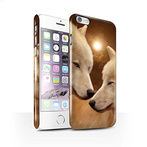 Officiel Elena Dudina Coque / Clipser Brillant Etui pour Apple iPhone 6S / Pack 16pcs Design / Les Animaux Collection Loups Blancs