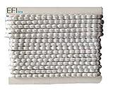 Efitex Bleiband 70g - 2,5 m Karte, EU Norm Zertifiziert Bleikordel für Gardinen und Vorhänge