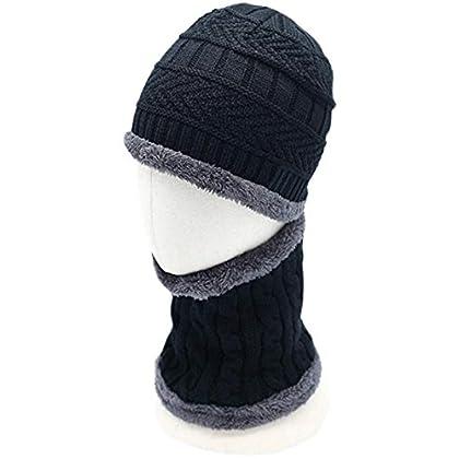 5445961d90ad3 Aruny Wintermütze Hut Mütze Loop-Schal Sets Für Männer   Frauen gestrickt  Strickmütze