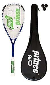 Prince Airo TT Warrior Squash Racket plus 3 Dunlop Pro Squash Balls RRP 240