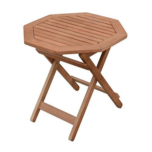 Eukalyptus Gartentisch geölt - 50x50cm - Holz Klapptisch Biergarten Bistro Tisch