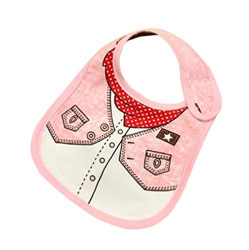 Neugeborenes Baby Pulver (Lätzchen Baby Abwaschbar Baumwolle Neugeborene Spucktuch Lätzchen Gaze Pulver Denim Speichel Quadrat Halstücher für Baby Jungen und Mädchen Kleinkinde (1 Stück))