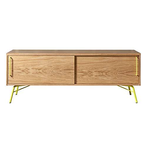 Paris Prix - Meuble TV Design Ashburn 145cm Chêne & Jaune