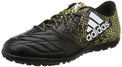 adidas X 16.3 TF Leather, Entraînement de Football Homme Noir (Core Black/Ftwr White/Gold Met)