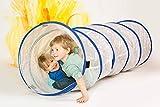 FLIXI Kriechtunnel - EIN transparenter Spieltunnel für die bessere Orientierung - Krabbeltunnel für Kinder - Tunnel für die Bauecke