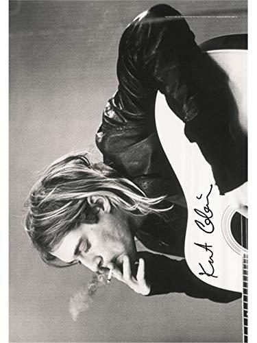 Heart Rock Licensed Flagge Kurt Cobain–B. & W Guitar, Stoff, Mehrfarbig, 110x 75x 0,1cm