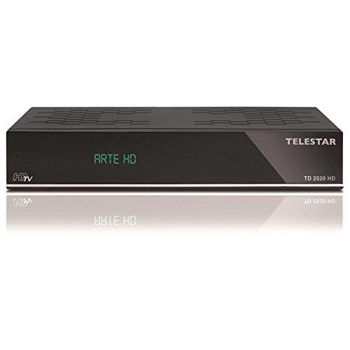 Telestar TD 2520 HD digitaler HDTV Satelliten Receiver (PVR-Ready, Alphanumerisches Display, HDMI, SCART, Ethernet, USB 2.0) schwarz(Zertifiziert und Generalüberholt)