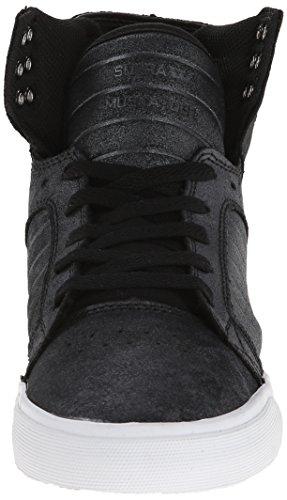 Supra WOMENS SKYTOP, Sneaker alta donna Nero (Schwarz (BLACK / METALLIC - WHITE     BMT))
