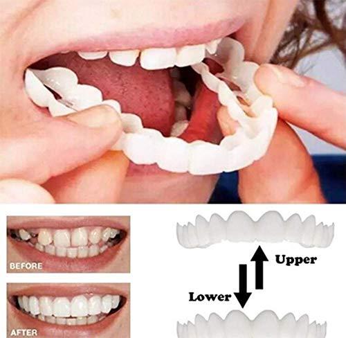 2 STÜCKE Upper & Lower Hohe Qualität Prothese Instant Smile Comfort Fit Flex Kosmetische Zähne Prothese Zähne Top Cosmetic Veneer -