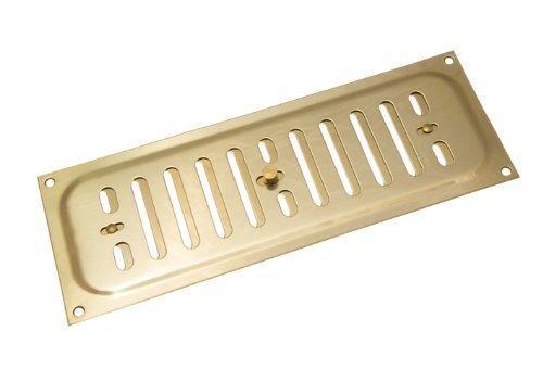 Messing poliert Glücksache Louvre ventilation Abdeckung 9 x 3 Zoll (1er-Pack)