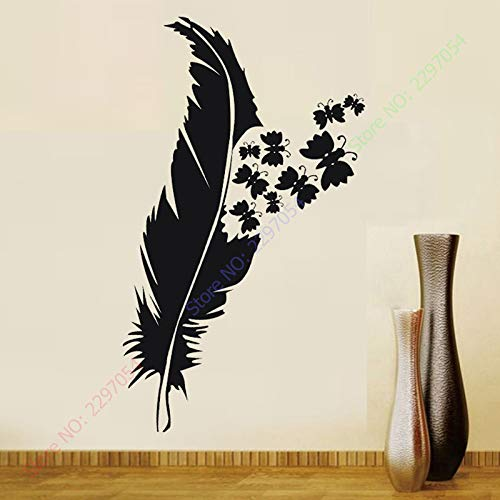 jiushizq Wandkunst Benutzerdefinierte Vinyl Aufkleber Aufkleber Dekor Schmetterling 48x132cm Weiß 62x171cm
