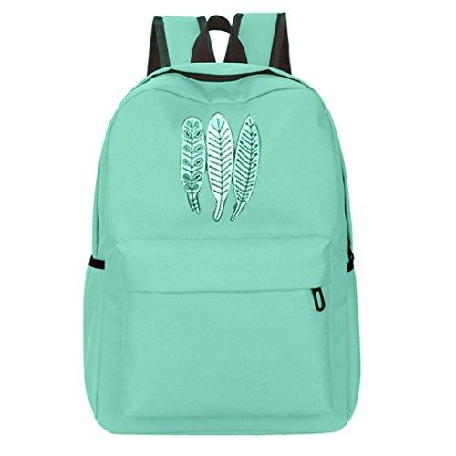 UI Leisure Druck Backpack Wasserdicht Reiserucksack Outdoor Wanderrucksacke jugendliche mädchen Rucksack Oxford Tuch Schultasche (Grün) (Notebook-rucksack North Face Rosa)