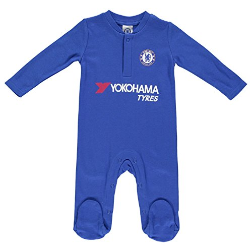 Chelsea Unisex Official Sleepsuit, Multi-Colour, 0-3 Months