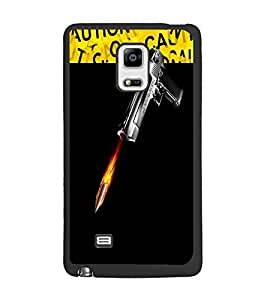 PrintDhaba GUN D-3734 Back Case Cover for SAMSUNG GALAXY NOTE 4 (Multi-Coloured)