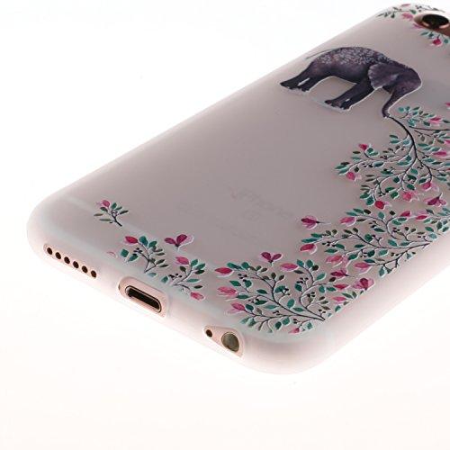 iPhone 6 Hülle, Voguecase Silikon Schutzhülle / Case / Cover / Hülle / TPU Gel Skin für Apple iPhone 6/6S 4.7(Lace Teppich 06) + Gratis Universal Eingabestift Elefant blume
