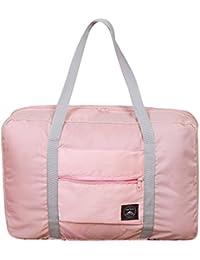 SPAHER Unisex bolsa de lona plegable 32L Ligera poco voluminoso Noche Holdall Barril Bolsa Para Compras Viajes Gimnasio equipaje acampa de los deportes