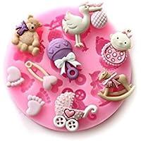 FairOnly - Moldes de Silicona para Fondant y Chocolate, diseño con Texto en inglés Baby