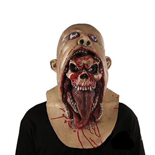 YKQ WS Halloween Scary Teufel Schädel Latex Maske Carnival Stage Performance Requisiten, Szene Anziehen (Farbe : A)