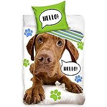 AHS - Juego de Ropa de Cama 100% algodón con Funda de edredón para Perros