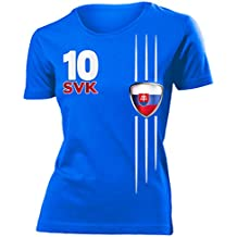 FUSSBALL EM 2016 - SLOWAKEI FANSHIRT T-Shirt Damen S-XXL